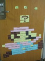 Post-it Mario + block by WutTheFace
