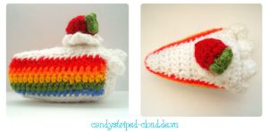 Hanami 2012: Rainbow Cake Amigurumi by candystriped-cloud