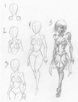 How I draw Female bodies by KT-Zombie
