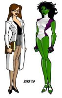 Dr. Walters and Ms. She-Hulk by billiebob72088