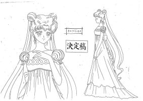 Princess Serenity Model Sheet by chewychomp