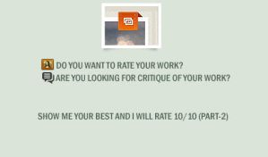 RATE YOUR WORK by ANC4DES