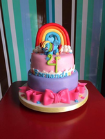 Rainbow Dash Birthday Cake by Jarquin10