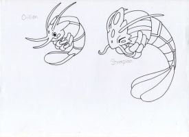 Fakemon- Shrimp by JoshuaDunlop