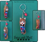 Spice and Wolf - Chibi Horo keychain by Nko-ennekappao