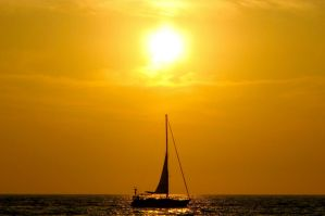 Sunset Sails by alexettinger