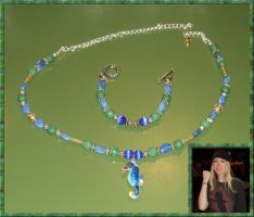 Sea Life Necklace and Bracelet Set by Windthin