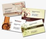 4 More Personal Business Cards in Earth Tones by fiftyfivepixels