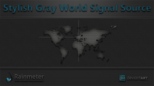 Stylish Gray World Signal Source by WwGallery