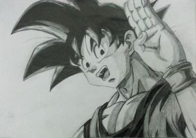 Goku Draw X by Amistrated