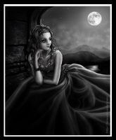 A peaceful night - bw by Tania-S