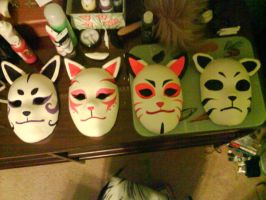 Completed ANBU masks by NightLiight