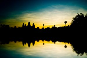 Sunrise at Angkor Wat by arrheniusss