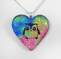 Custom Owl Heart Pendant by HoneyCatJewelry