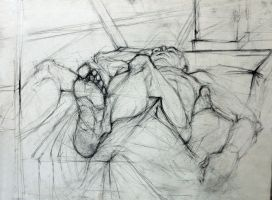 Charcoal Figure Drawing by KateStehr