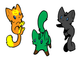 Forest Cat Adoptables-FREE by superstel