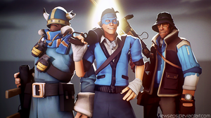 Team Fortress 2 (TF2) - Scout and Solly and Sniper by ViewSEPS