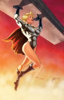 Power Girl Print by BrianAtkins