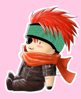 Chibi sitting Lavi by ernn