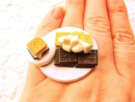 Smores Chocolate Ring by souzoucreations