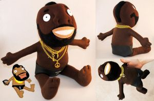 Mr. T plushie by Eyes5