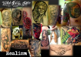Realistic tattoos collage by WildThingsTattoo