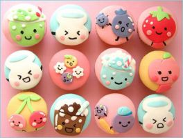 Japanese Cupcakes by airy345