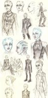 Mass Effect Asari OC Sketches by LazyGreen