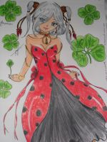 LADYBUG DRESS OR Queen of the ladybugs by NAKYOKIAMI