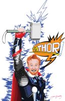 conan o brien is thor by ultimatemikko