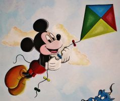 Mickey Mouse Mural Painting by Bonniemarie