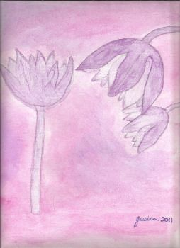 Pink Flowers by whimsicalworkings