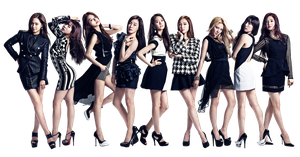 Girls Generation (SNSD) PNG Render by GAJMEditions