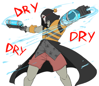 Overwatch: Reaper tries to get everyone....wet by Mikouchan