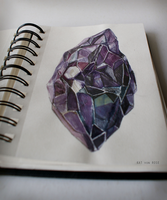 Mineral / drawing by Kat-von-Rose