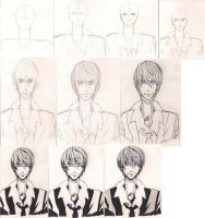 Light Yagami Tutorial by The-Butterses