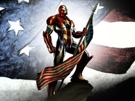 Iron Patriot Flag WP 2 by Superman8193