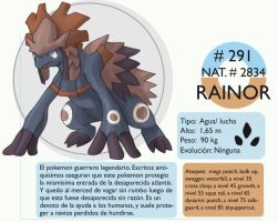 Pokemon Oryu 291 Rainor by shinyscyther