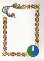 Scroll Blank, Knotwork by grumbleworts