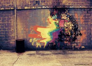 Nyan cat Graffiti by xXxEli