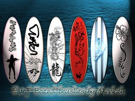 Surf Board Brushes by Meekah by meekah81