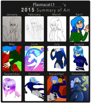 2015 Summary of Art by Plasmacat13