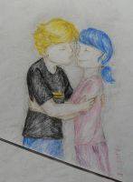 Marinette and Adrien by ilwin