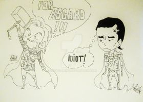 Loki vs Thor Part 1 by Sallysammy