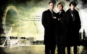 BBC Sherlock Wallpaper by lieutenantsubtext