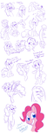 A whole mess of Pinkie Pies by faster-by-choice
