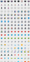 WIP - 32px mania iconset by DDrDark