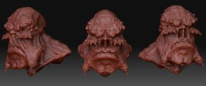 Ogre Zbrush Model front views by Danwhitedesigns