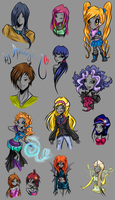 +_Various characters Winx_+ by Alen-AS