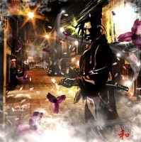 Samourai in the street by Livelys
